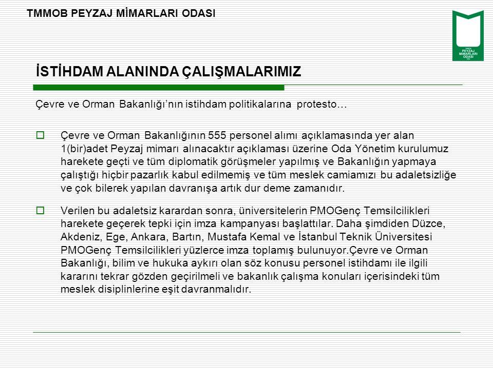 İSTİHDAM ALANINDA ÇALIŞMALARIMIZ Çevre ve Orman Bakanlığı'nın istihdam politikalarına protesto…  Çevre ve Orman Bakanlığının 555 personel alımı açıkl