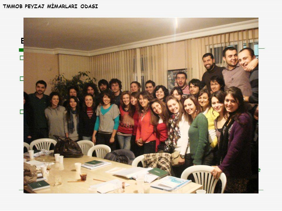ETKİNLİKLERİMİZ  Peyzaj Mimarları Odası Öğrenci Üye Komisyonları (PMOGenç) Üniversite Temsilcileri 07 Şubat 2009 tarihinde Ankara' da bir araya geldi