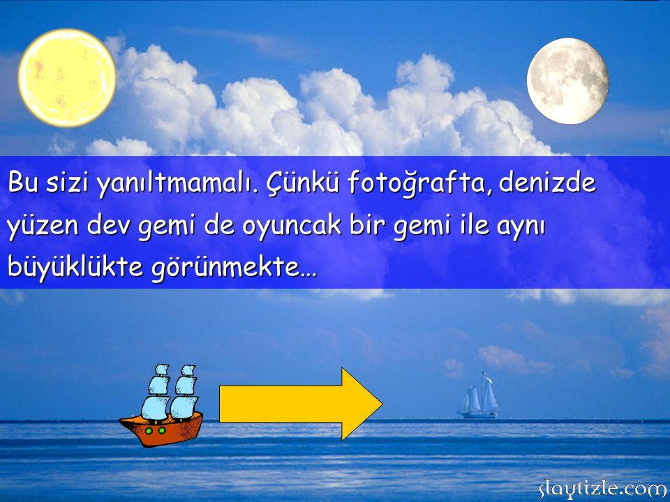 Dünyadan gökyüzüne baktığımızda bazı günler hem ayı, hem güneşi görebiliriz. Büyüklük olarak her ikiside aynı boyutta gibi gözükürler.