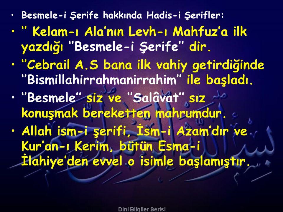 Dini Bilgiler Serisi •Rum Kayseri (kralı) Hz.Ömer R.A.'e: ''Deva bulunmaz baş ağrısına müptelayım.