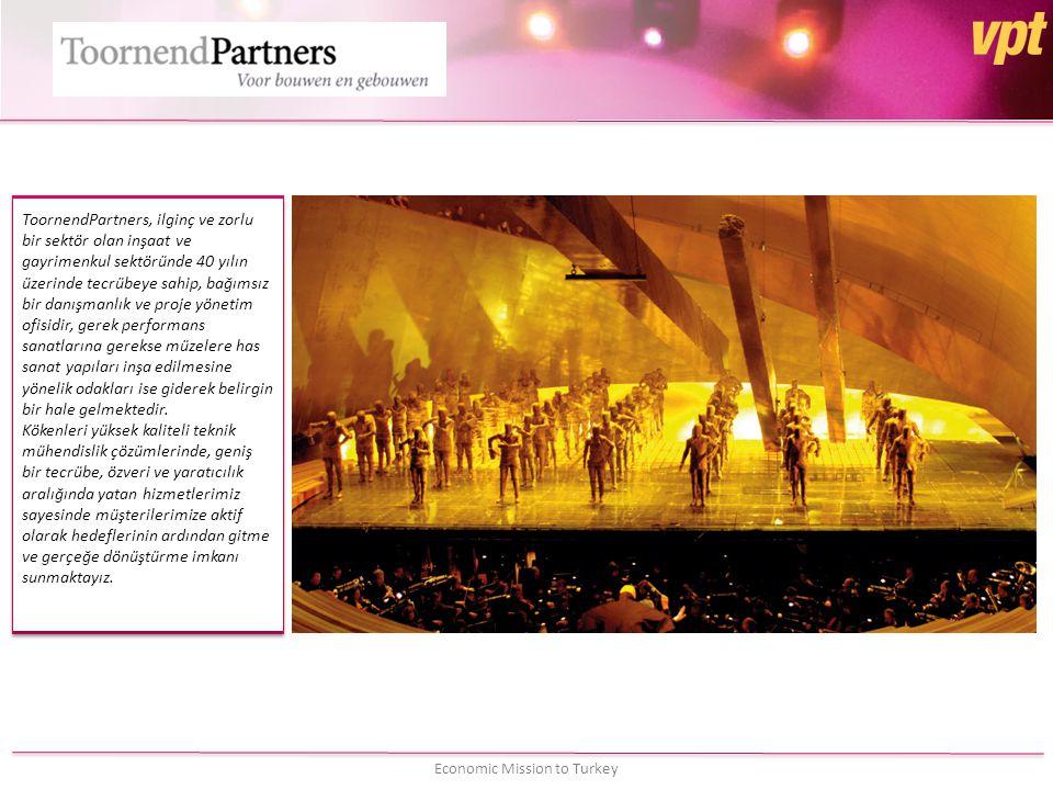 ToornendPartners, ilginç ve zorlu bir sektör olan inşaat ve gayrimenkul sektöründe 40 yılın üzerinde tecrübeye sahip, bağımsız bir danışmanlık ve proje yönetim ofisidir, gerek performans sanatlarına gerekse müzelere has sanat yapıları inşa edilmesine yönelik odakları ise giderek belirgin bir hale gelmektedir.
