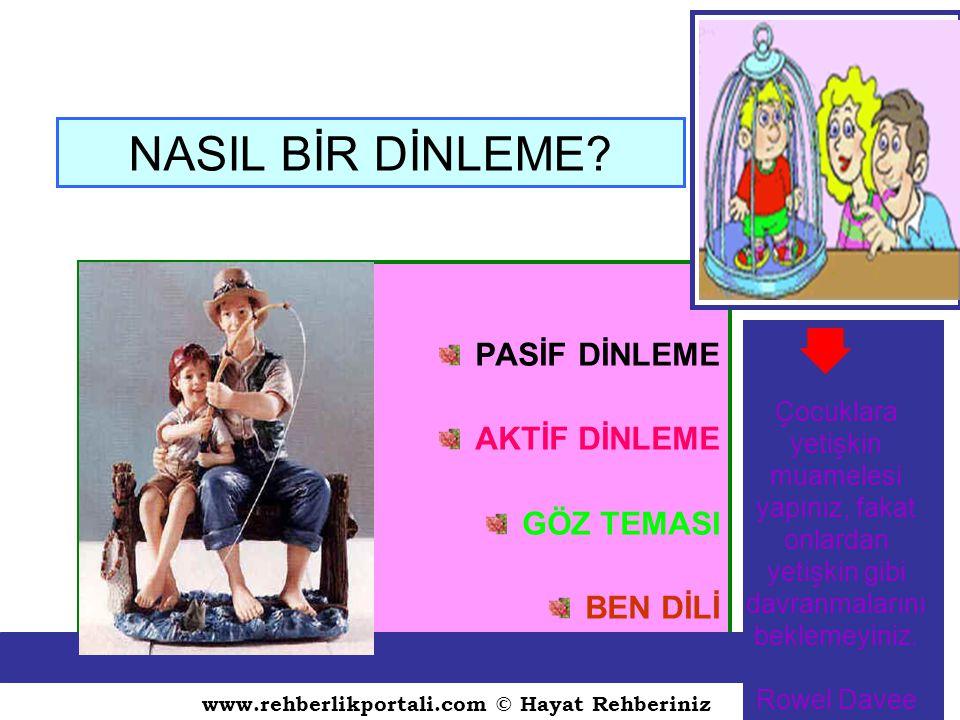 www.rehberlikportali.com © Hayat Rehberiniz NASIL BİR DİNLEME.
