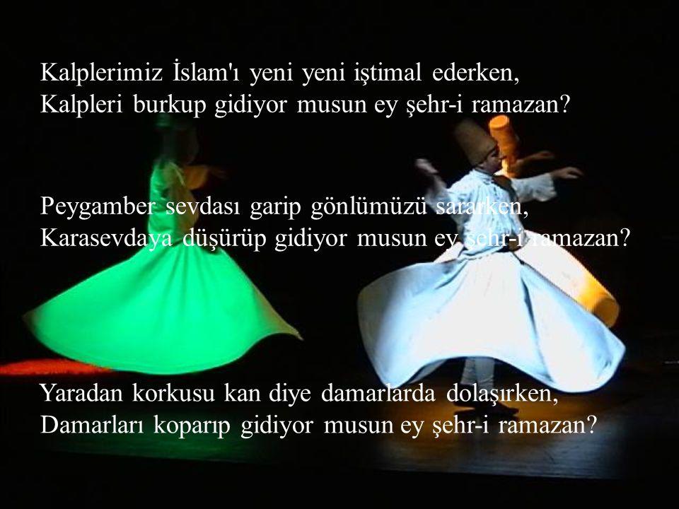 Kalplerimiz İslam ı yeni yeni iştimal ederken, Kalpleri burkup gidiyor musun ey şehr-i ramazan.