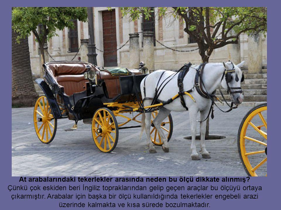 At arabalarındaki tekerlekler arasında neden bu ölçü dikkate alınmış.