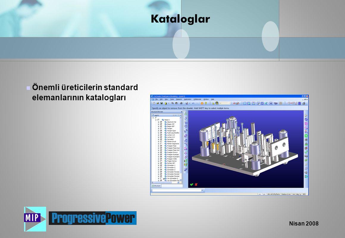 Nisan 2008  Önemli üreticilerin standard elemanlarının katalogları Kataloglar