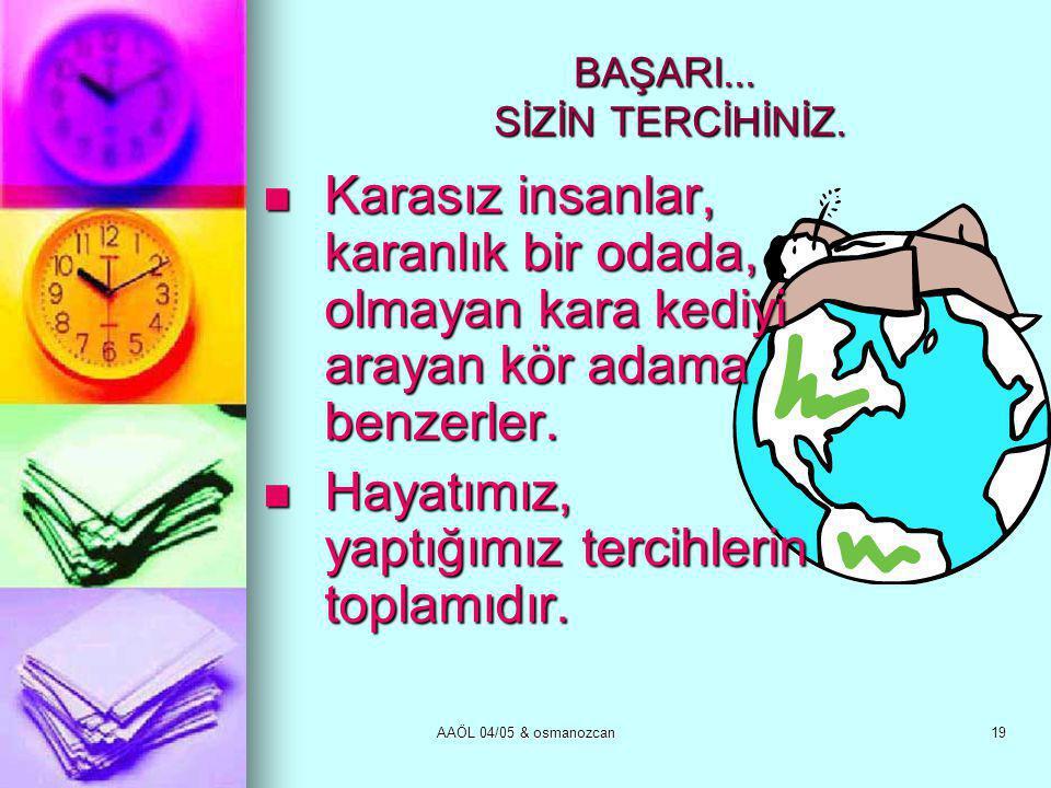 AAÖL 04/05 & osmanozcan19 BAŞARI...SİZİN TERCİHİNİZ.