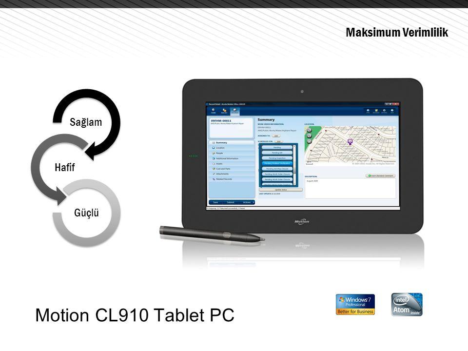 Maksimum Verimlilik Motion CL910 Tablet PC Sağlam Hafif Güçlü