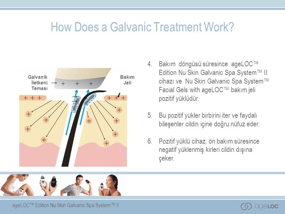 ageLOC™ Edition Nu Skin Galvanic Spa System™ II Galvanik İletkeni Teması Bakım Jeli 4. Bakım döngüsü süresince ageLOC™ Edition Nu Skin Galvanic Spa Sy