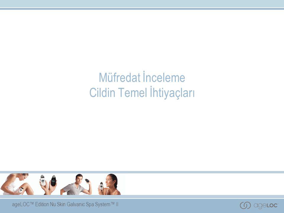 ageLOC™ Edition Nu Skin Galvanic Spa System™ II Müfredat İnceleme Cildin Temel İhtiyaçları