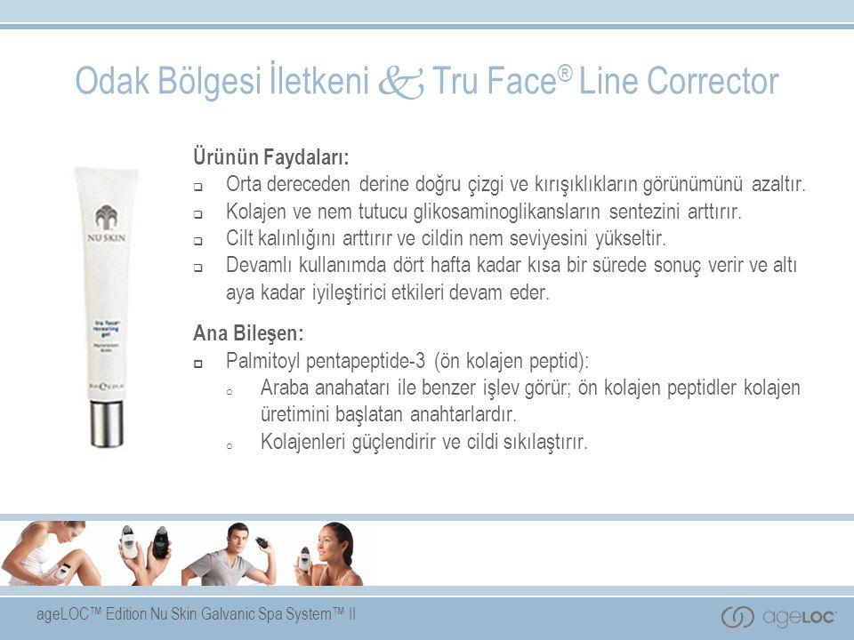 ageLOC™ Edition Nu Skin Galvanic Spa System™ II Ürünün Faydaları:  Orta dereceden derine doğru çizgi ve kırışıklıkların görünümünü azaltır.  Kolajen