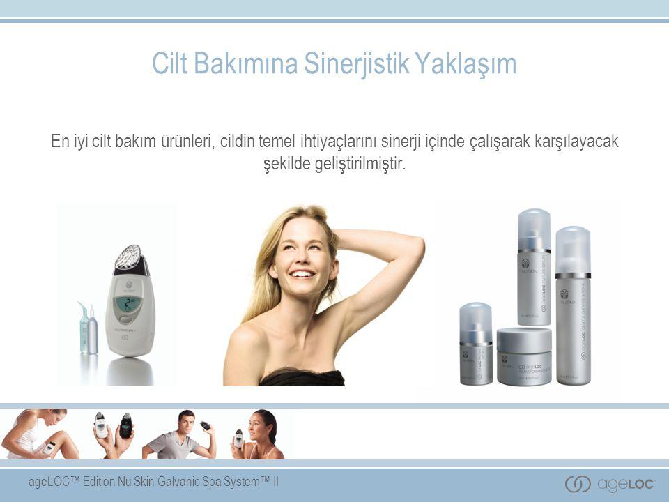 ageLOC™ Edition Nu Skin Galvanic Spa System™ II İleri düzeyde ihtiyaçlar Besleme Bakım Son Dokunuş Soyma Maske Canlandırma Esas ihtiyaçlar Temizleme Tonlama Koruma gündüz Nemlendirme gece.