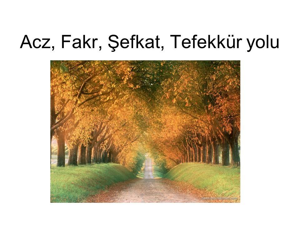 Acz, Fakr, Şefkat, Tefekkür yolu