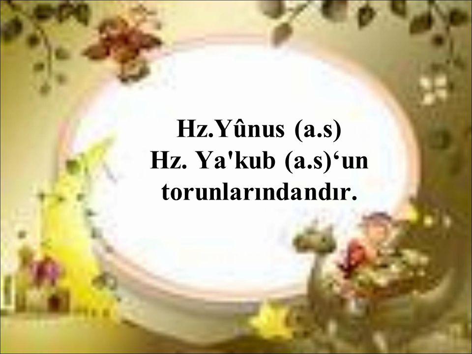 Hz.Yûnus (a.s) Hz. Ya'kub (a.s)'un torunlarındandır.