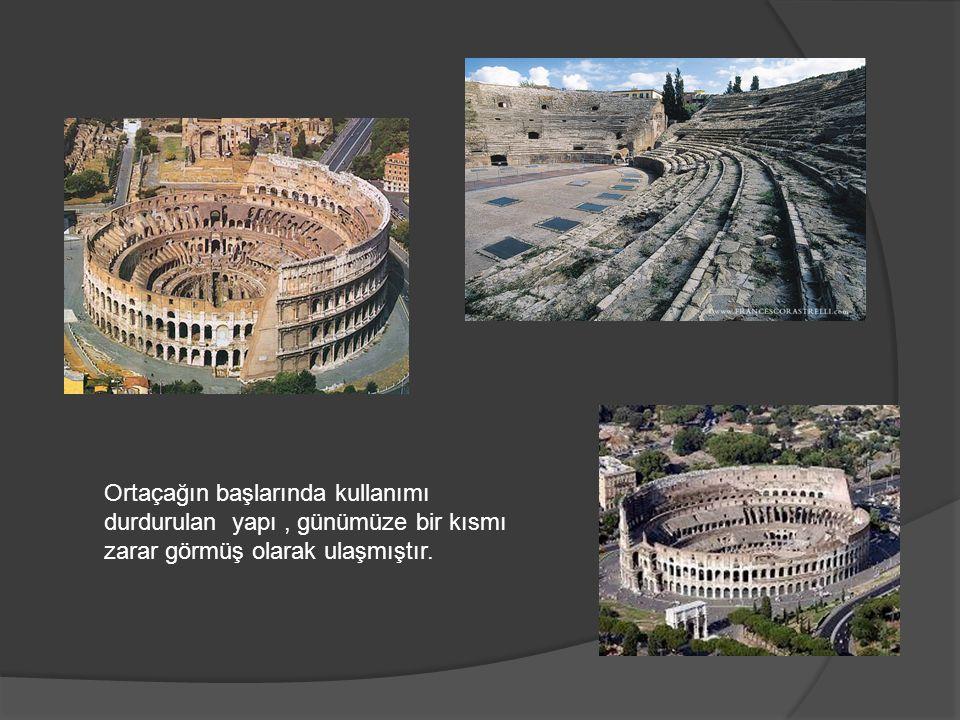 Ortaçağın başlarında kullanımı durdurulan yapı, günümüze bir kısmı zarar görmüş olarak ulaşmıştır.