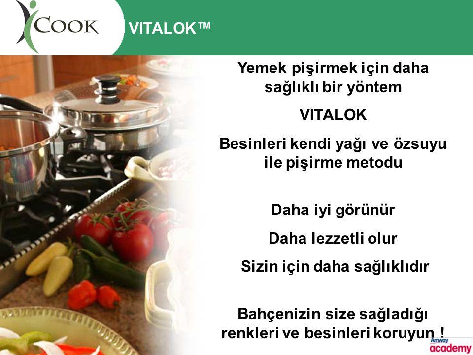 Yemek pişirmek için daha sağlıklı bir yöntem VITALOK Besinleri kendi yağı ve özsuyu ile pişirme metodu Daha iyi görünür Daha lezzetli olur Sizin için