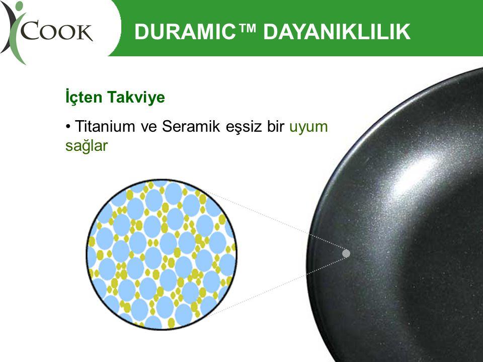 İçten Takviye • Titanium ve Seramik eşsiz bir uyum sağlar DURAMIC™ DAYANIKLILIK