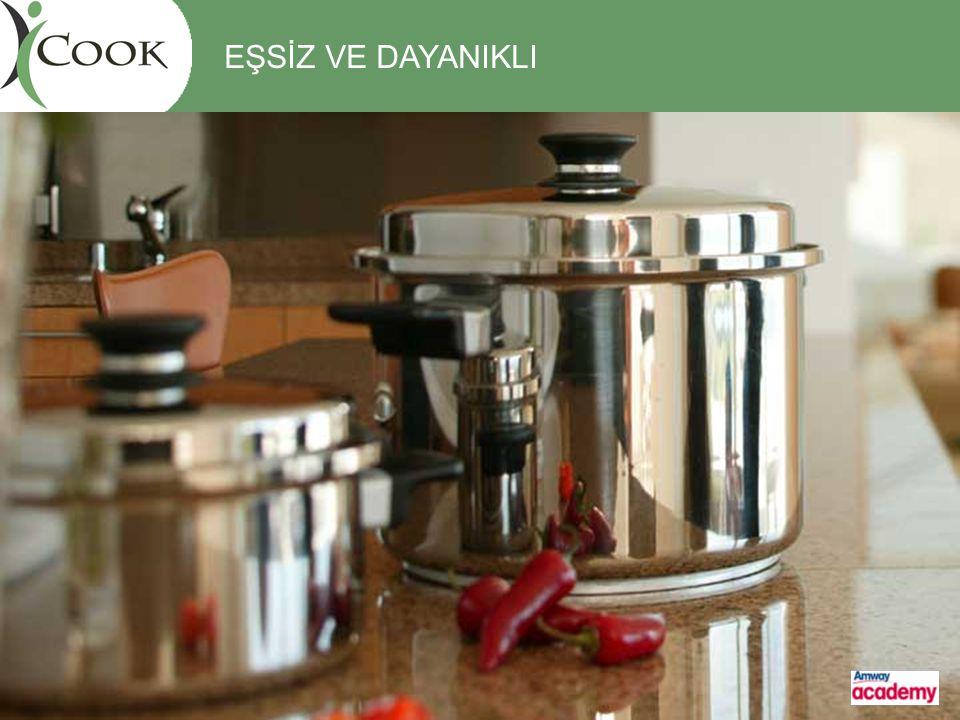 Vitalok TM pişirme metodu Duramic TM yapışmaz kaplama tekniği Özgün Sap Tasarımı TASARIM iCOOK İÇİN ÖZEL TEKNOLOJİLER Optitemp TM tencere tabanı