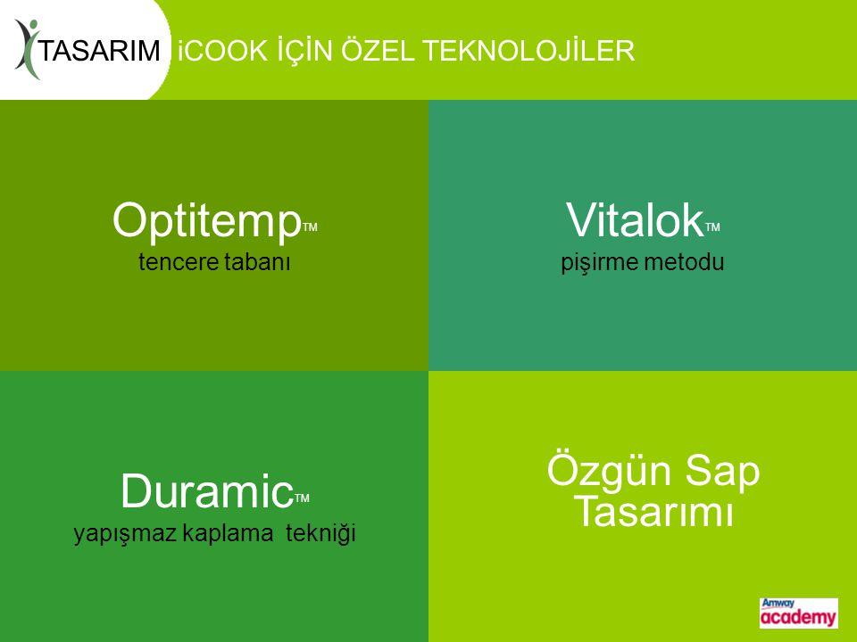 Optitemp katmanlı taban sistemi alüminyum ve paslanmaz çeliği birleştirir.