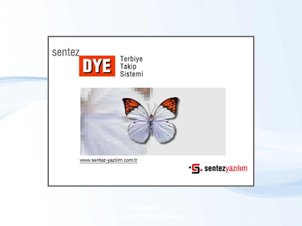 SentezDYE Tekstil Terbiye Takip Sistemi SentezDYE WEB MODÜLÜ SentezREST Restaurant Yönetim Sistemi WEB üzerinden müşterilerinizin kendilerine ait bilgileri (iş emirlerine ait üretim bilgileri, ham kumaş irsaliye bilgileri vb.) takip edebilirsiniz.