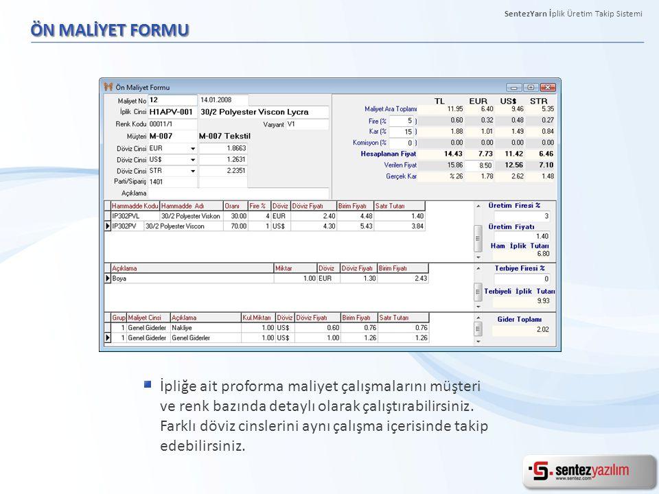 PARTİ SERİ BİLGİLERİ FORMU İş emrine ait seriler tek ekranda takip edilebilir ve bu ekran üzerinden tüm detay işlemler (etiket basımı, paketlemeci vb.) yapılabilmektedir.
