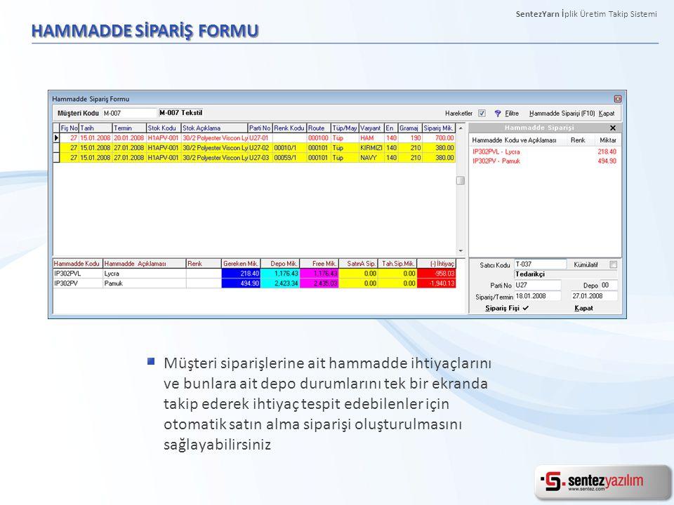 KONTROL PANELİ Kullanıcıların ihtiyaçları doğrultusunda farklı detaylar içeren raporların tek ekranda online olarak takibini sağlayabilirsiniz.