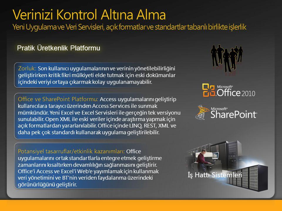 Office ve SharePoint Platformu: Access uygulamalarını geliştirip kullanıcılara tarayıcı üzerinden Access Services ile sunmak mümkündür. Yeni Excel ve