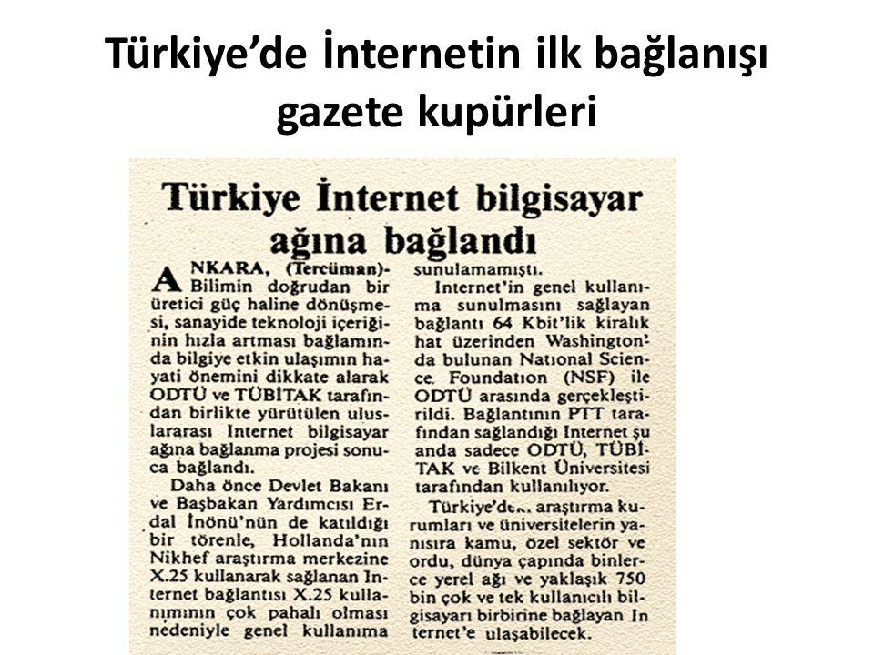 Türkiye'de İnternetin ilk bağlanışı gazete kupürleri
