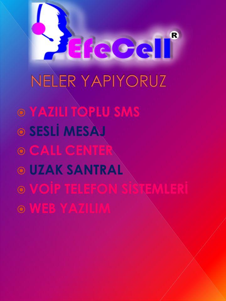  YAZILI TOPLU SMS  SESLİ MESAJ  CALL CENTER  UZAK SANTRAL  VOİP TELEFON SİSTEMLERİ  WEB YAZILIM