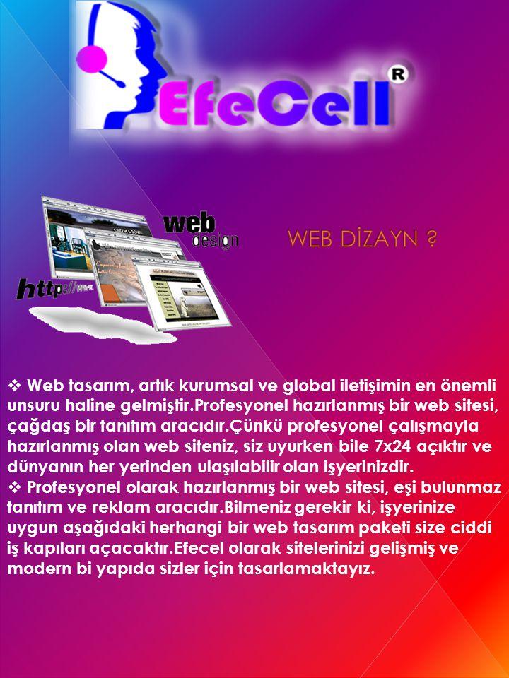 Web tasarım, artık kurumsal ve global iletişimin en önemli unsuru haline gelmiştir.Profesyonel hazırlanmış bir web sitesi, çağdaş bir tanıtım aracıd