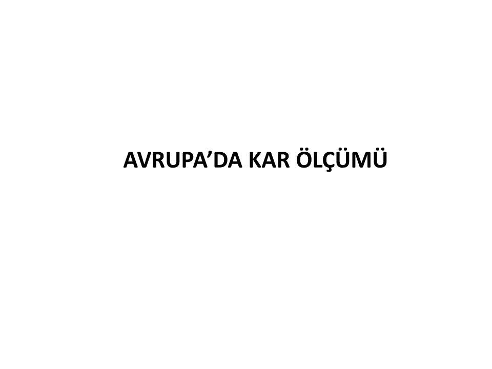 AVRUPA'DA KAR ÖLÇÜMÜ