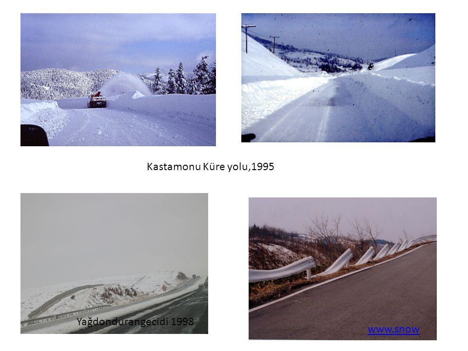 Kastamonu Küre yolu,1995 Yağdondurangecidi 1998 www.snow