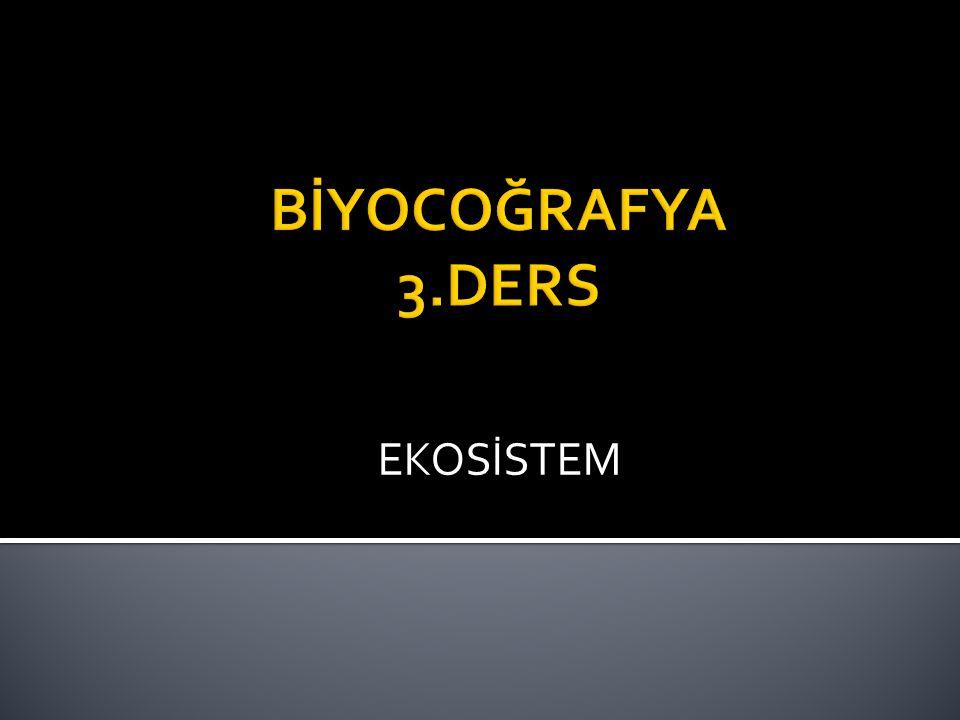  Ekosistem, belirli bir alanda bulunan canlıların birbirleriyle ve cansız çevreleriyle karşılıklı ilişkileri ile meydana gelen ve süreklilik arz eden ekolojik sistemdir.
