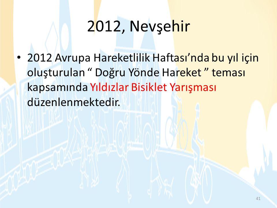 """2012, Nevşehir • 2012 Avrupa Hareketlilik Haftası'nda bu yıl için oluşturulan """" Doğru Yönde Hareket """" teması kapsamında Yıldızlar Bisiklet Yarışması d"""