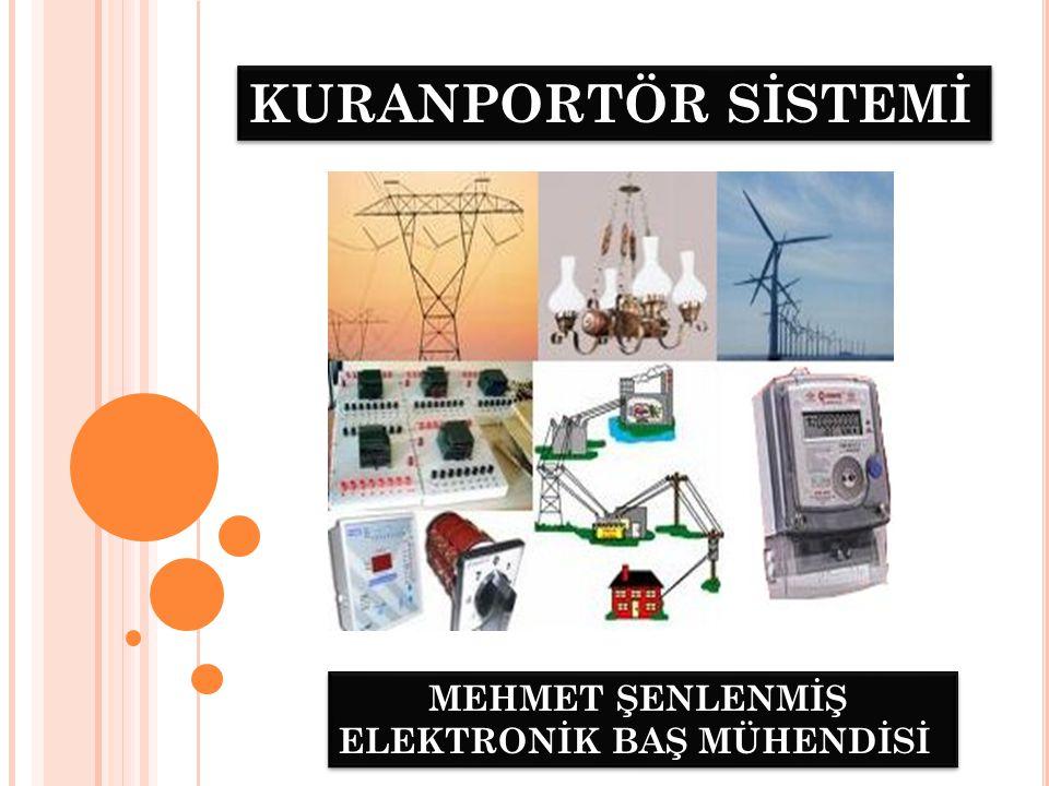 KURANPORTÖR SİSTEMİ Üretim merkezlerinde üretilen elektrik enerjisini dağıtım merkezlerine oradan da kullanıcılara güvenli bir şekilde ulaştırmak için EİH ( Enerji İletim Hattı) ve EDH (Elektrik Dağıtım Hattı) kullanılır.