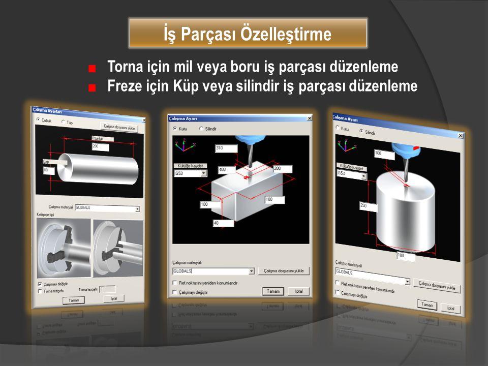 Torna için mil veya boru iş parçası düzenleme Freze için Küp veya silindir iş parçası düzenleme İş Parçası Özelleştirme