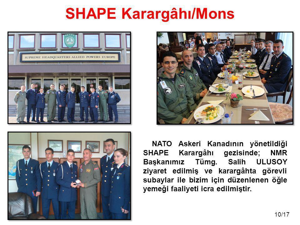 SHAPE Karargâhı/Mons NATO Askeri Kanadının yönetildiği SHAPE Karargâhı gezisinde; NMR Başkanımız Tümg. Salih ULUSOY ziyaret edilmiş ve karargâhta göre