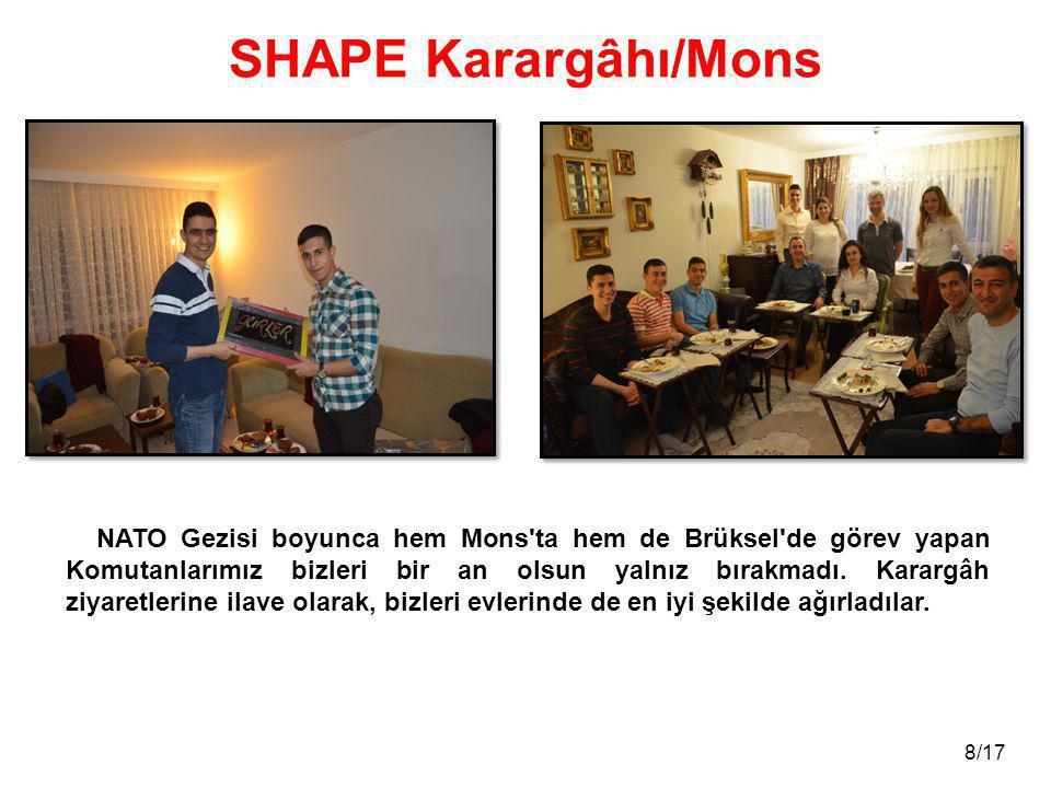 9/17 SHAPE Karargâhı/Mons Komutanlarımız, çok değerli eşleri ve çocukları ile beraber büyük bir aile olduk.