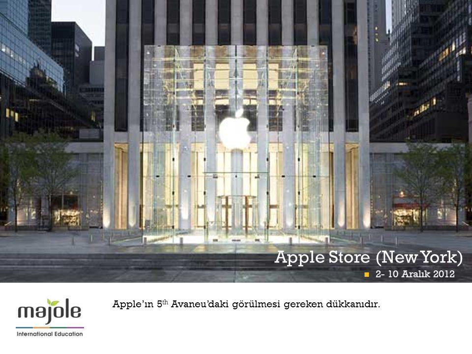 + Apple Store (New York) B İ RLE Ş M İŞ M İ LLETLER GENEL MERKEZ İ NDE E Ğİ T İ M SEM İ NER İ  2- 10 Aralık 2012 Apple'ın 5 th Avaneu'daki görülmesi gereken dükkanıdır.