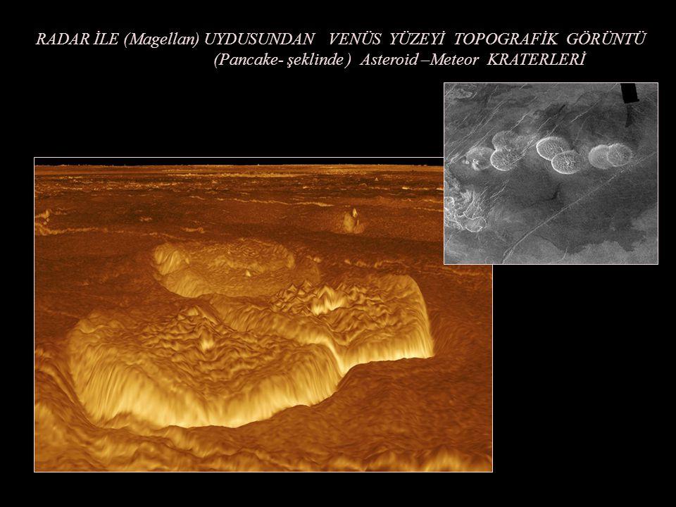 RADAR İLE ADETA ÖRÜMCEK AĞI GÖRÜNÜMÜ VEREN VENÜSÜN YÜZEYİNİN BİR KISMI (Aracnoid Surface Topography)
