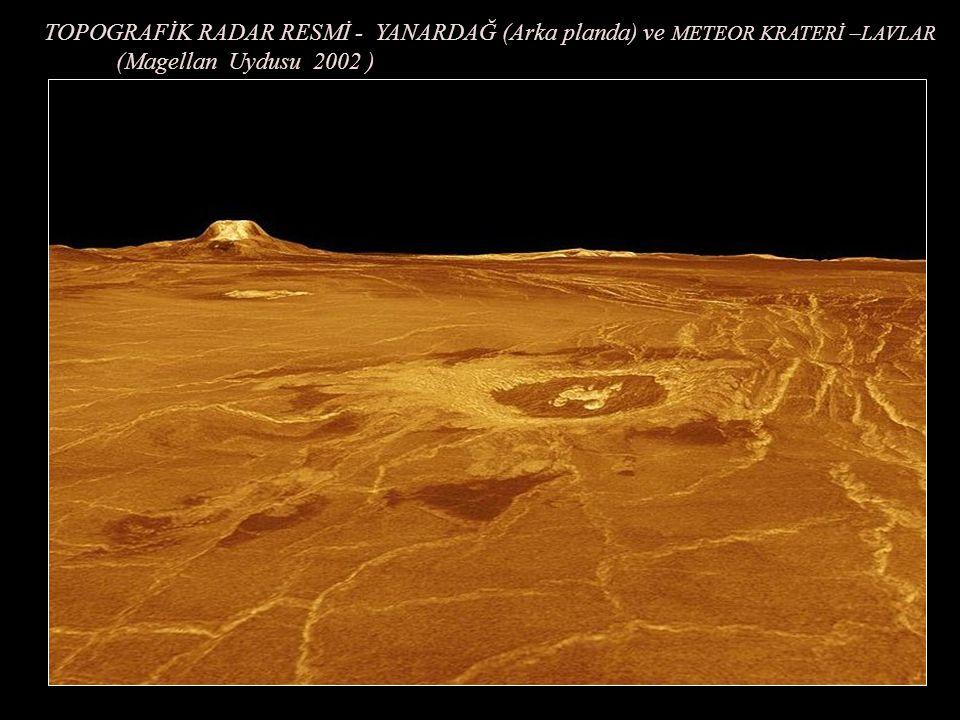 VENÜS AKTİF YANARDAĞ VE LAVLAR (Magellan uydusundan Topografik Radar resmi -2002 )