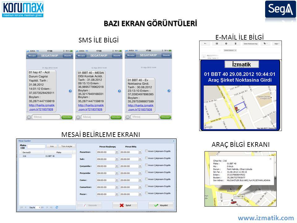 'Alarm Gözlem Merkezi' veritabanı bağlantısı ile İzMax yazılımı kullanan işletmeler aynı zamanda Araç izleme merkezi olarakta hizmet verebilmektedir.