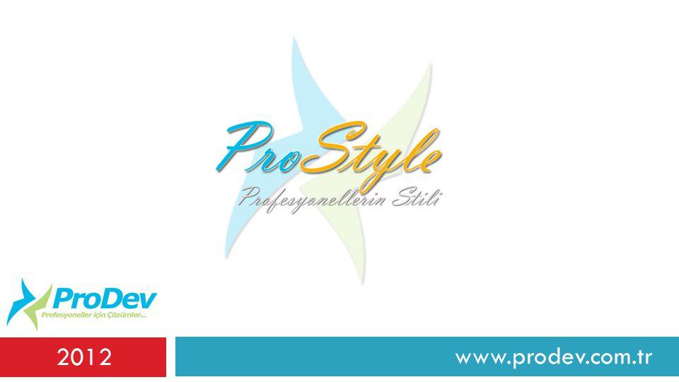 www.prodev.com.tr 2012