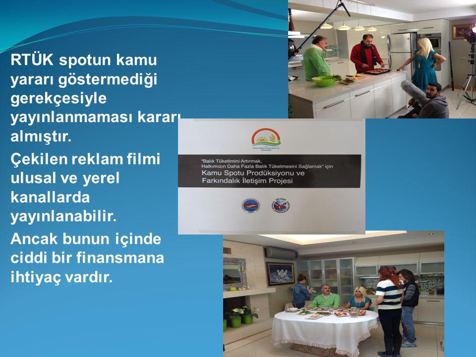RTÜK spotun kamu yararı göstermediği gerekçesiyle yayınlanmaması kararı almıştır. Çekilen reklam filmi ulusal ve yerel kanallarda yayınlanabilir. Anca