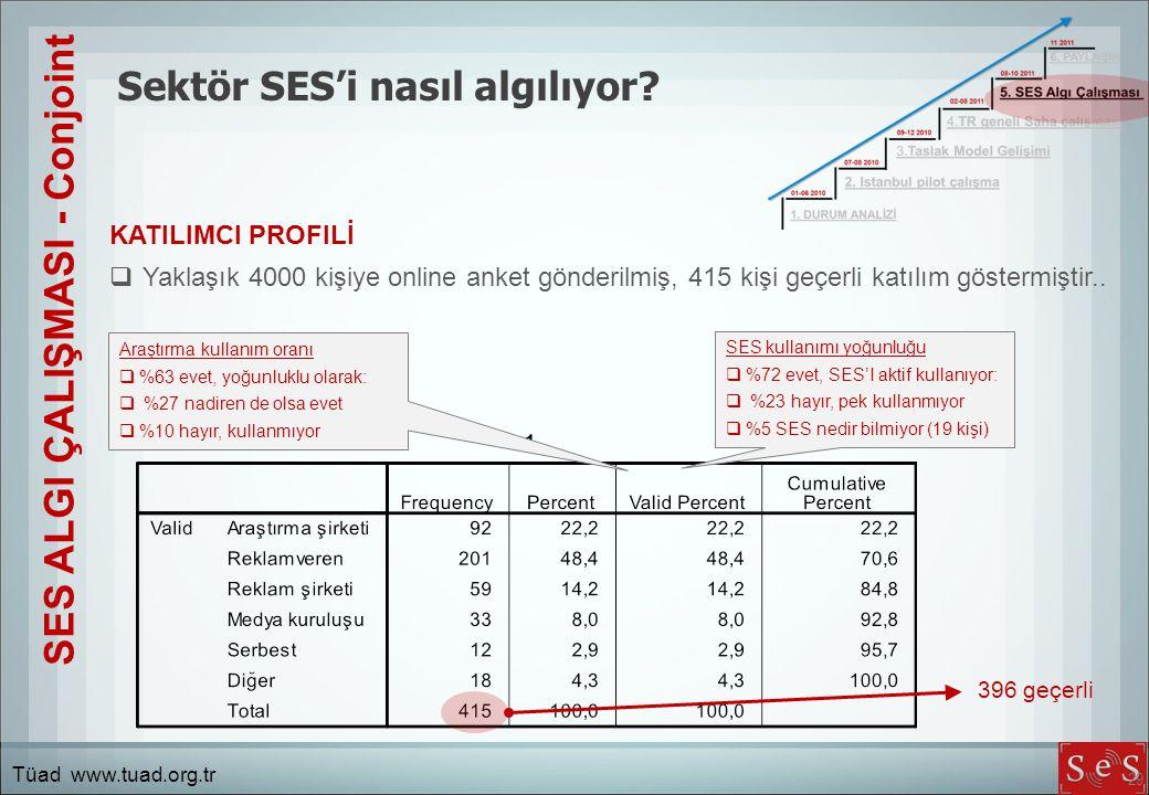 29 Sektör SES'i nasıl algılıyor.