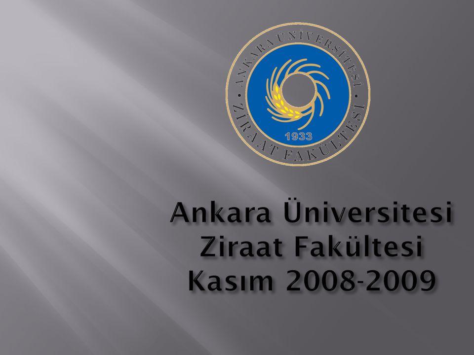 Ankara Üniversitesi Ziraat Fakültesi Kasım 2008-2009