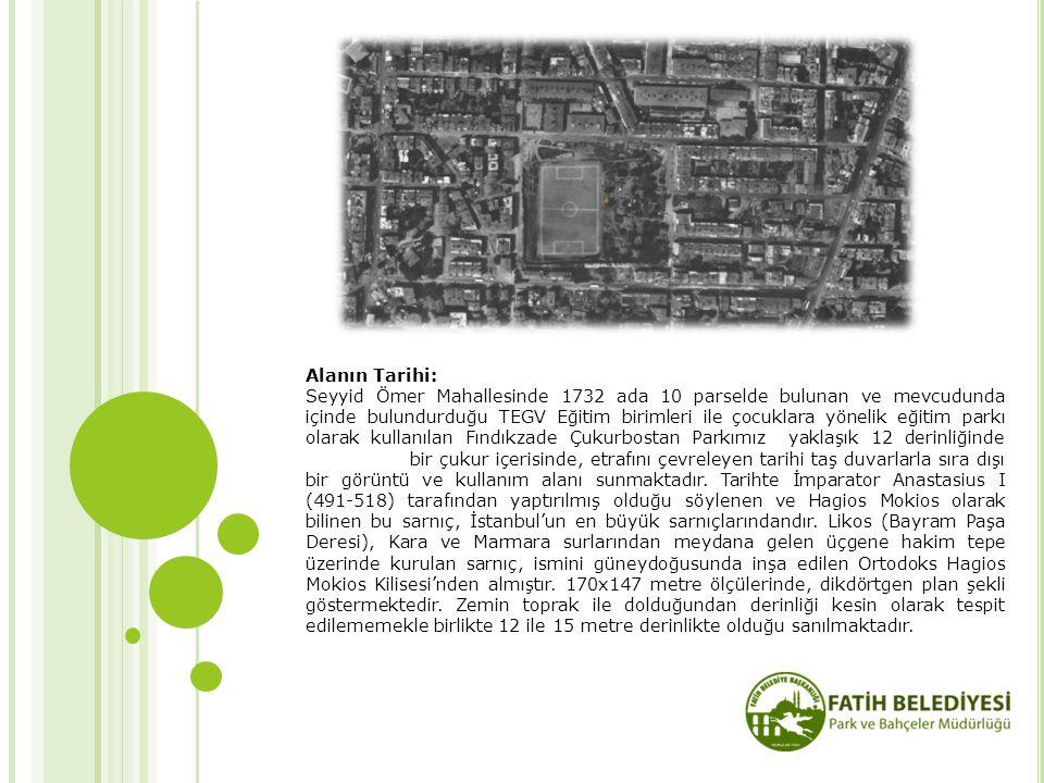 Alanın Tarihi: Seyyid Ömer Mahallesinde 1732 ada 10 parselde bulunan ve mevcudunda içinde bulundurduğu TEGV Eğitim birimleri ile çocuklara yönelik eği