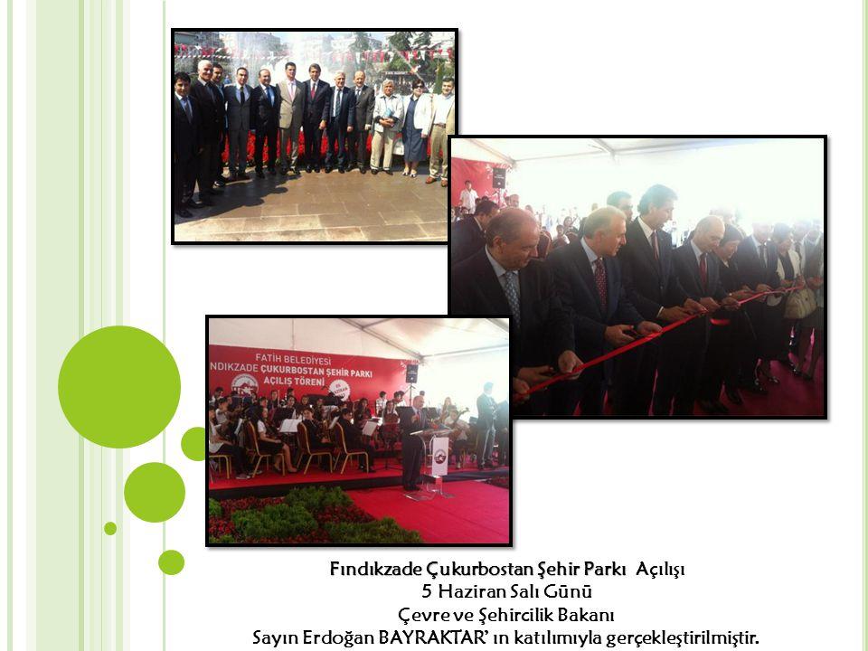 Fındıkzade Çukurbostan Şehir Parkı Fındıkzade Çukurbostan Şehir Parkı Açılışı 5 Haziran Salı Günü Çevre ve Şehircilik Bakanı Sayın Erdoğan BAYRAKTAR'