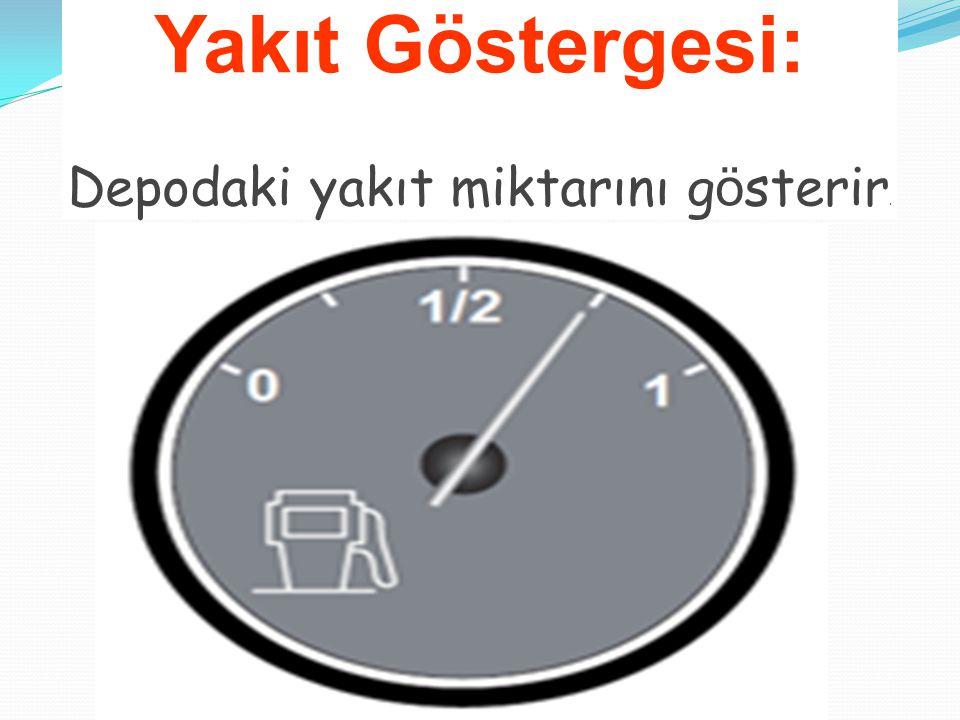 Yakıt Göstergesi: Depodaki yakıt miktarını g ö sterir.
