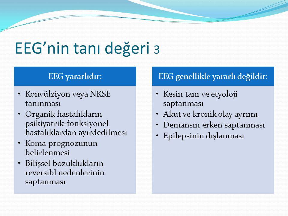 EEG'nin tanı değeri 3