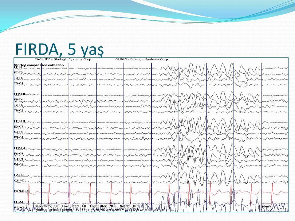 Demans  Yaşlılıkta EEG değişiklikleri ortaya çıkar:  Alfa ritmi 4-8 Hz hızına düşer  İzole veya aralıklı temporal yavaş dalgalar belirir  Alzheimer:  Hafif durumlarda alfada azalma  Ciddi durumlarda tamamen yavaş aktivite  Periyodik kompleksler